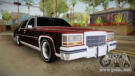 Cadillac Fleetwood Brougham Low Rider 1980 for GTA San Andreas right view