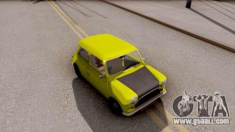 Mini Cooper 1300 Mr Bean for GTA San Andreas right view