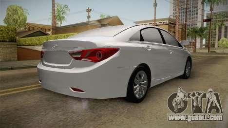 Hyundai Sonata 2013 for GTA San Andreas back left view
