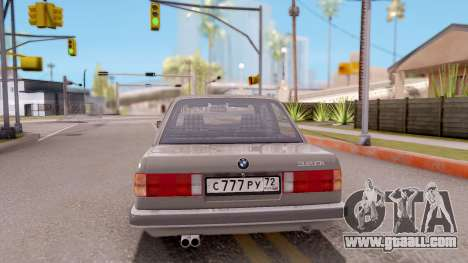 BMW E30 320i for GTA San Andreas back left view
