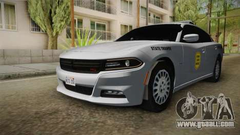 Dodge Charger 2015 Iowa State Patrol for GTA San Andreas right view
