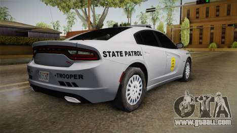 Dodge Charger 2015 Iowa State Patrol for GTA San Andreas left view