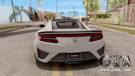 Honda NSX 2017 for GTA San Andreas