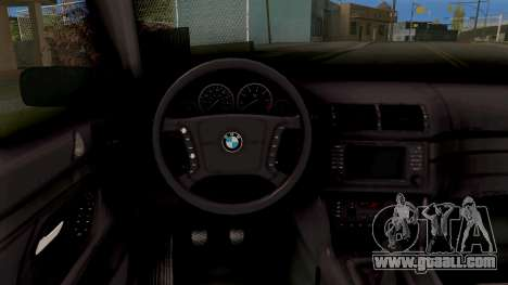 BMW M5 E39 GVR for GTA San Andreas inner view