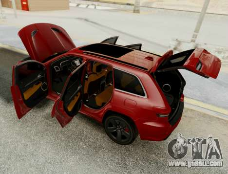Jeep Grand Cherokee SRT 8 for GTA San Andreas inner view