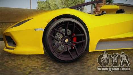 GTA 5 Pegassi Tempesta Spyder IVF for GTA San Andreas back view