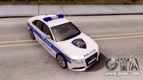 Audi S4 Croatian Police Car for GTA San Andreas right view