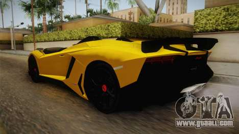 Lamborghini Aventador J for GTA San Andreas back left view