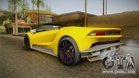 GTA 5 Pegassi Tempesta Spyder IVF for GTA San Andreas left view