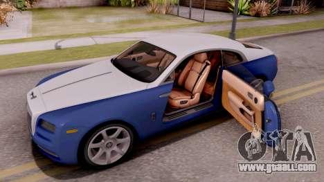 Rolls-Royce Wraith v2 for GTA San Andreas inner view