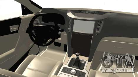 Hyundai Sonata 2013 for GTA San Andreas inner view