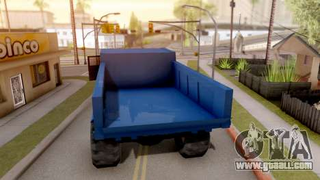 Paintable Dumper for GTA San Andreas back left view