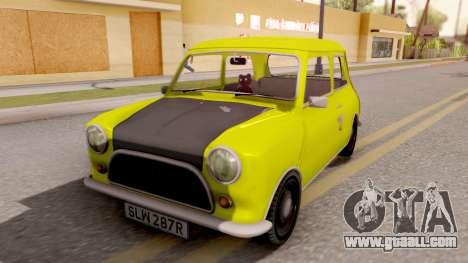Mini Cooper 1300 Mr Bean for GTA San Andreas