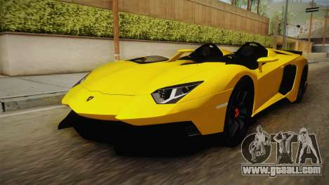 Lamborghini Aventador J for GTA San Andreas right view