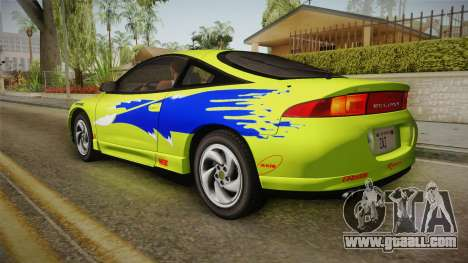 Mitsubishi Eclipse GSX 1995 Dirt IVF for GTA San Andreas wheels