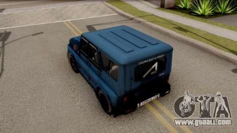 UAZ Hunter V8 Antigenic AcademeG for GTA San Andreas back view