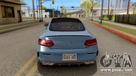 Mercedes-Benz C63S AMG Coupe for GTA San Andreas back left view