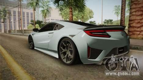 Honda NSX 2017 for GTA San Andreas left view