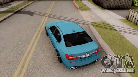 BMW 760 Li for GTA San Andreas back view