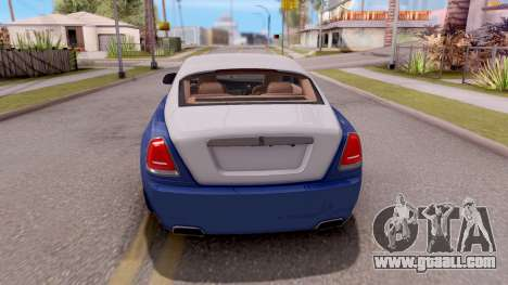 Rolls-Royce Wraith v2 for GTA San Andreas back left view