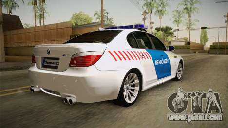 BMW M5 E60 Hungary Police for GTA San Andreas left view