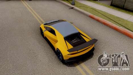 GTA 5 Pegassi Tempesta IVF for GTA San Andreas back view