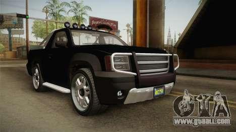GTA 5 Declasse Granger Pick-Up IVF for GTA San Andreas right view