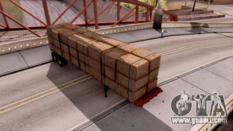 FlatBed Trailer From American Truck Simulator for GTA San Andreas back left view