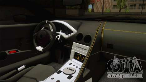 Lamborghini Murcielago LP670-4 SV Liberty Walk for GTA San Andreas inner view