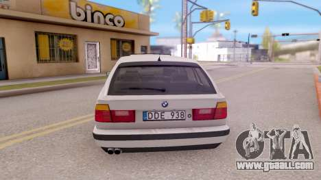 BMW 5-er E34 Touring Stock for GTA San Andreas back left view