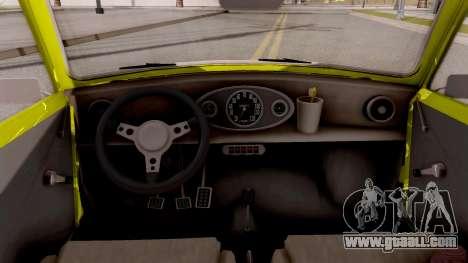 Mini Cooper 1300 Mr Bean for GTA San Andreas inner view