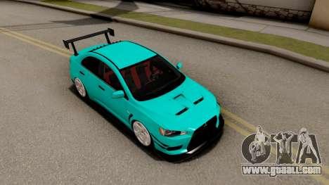 Mitsubishi Lancer Evolution X 2008 for GTA San Andreas right view