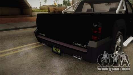 GTA 5 Declasse Granger Pick-Up IVF for GTA San Andreas upper view