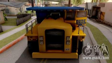 Paintable Dumper for GTA San Andreas inner view