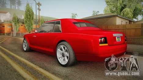 GTA 5 Enus Diamond Coupè IVF for GTA San Andreas left view
