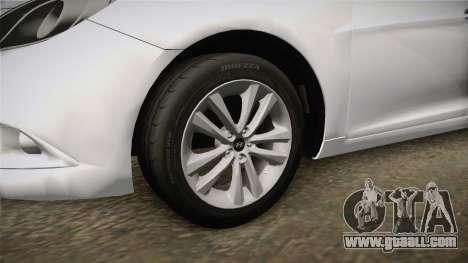 Hyundai Sonata 2013 for GTA San Andreas back view