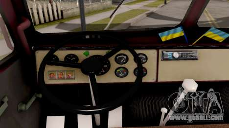MAZ-500 Tank for GTA San Andreas inner view