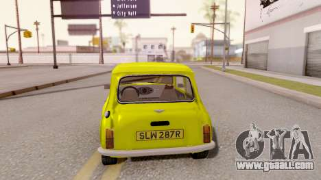 Mini Cooper 1300 Mr Bean for GTA San Andreas back left view