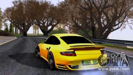 Porsche 911 Turbo 2007 for GTA San Andreas left view