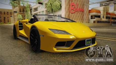 GTA 5 Pegassi Tempesta Spyder IVF for GTA San Andreas