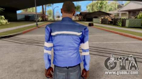 Blue jacket for GTA San Andreas third screenshot