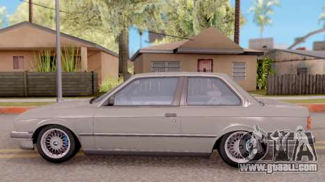 BMW E30 320i for GTA San Andreas left view