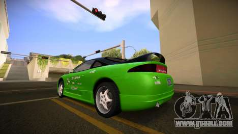 Mitsubishi Eclipse GSX for GTA San Andreas back view