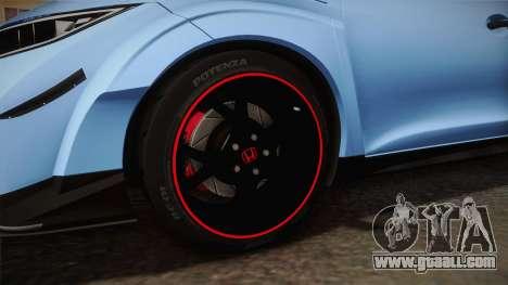 Honda Civic Type R 2015 for GTA San Andreas back view