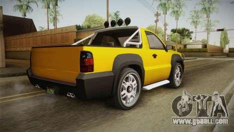GTA 5 Declasse Granger Pick-Up for GTA San Andreas left view