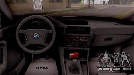 BMW 5-er E34 Touring Stock for GTA San Andreas inner view