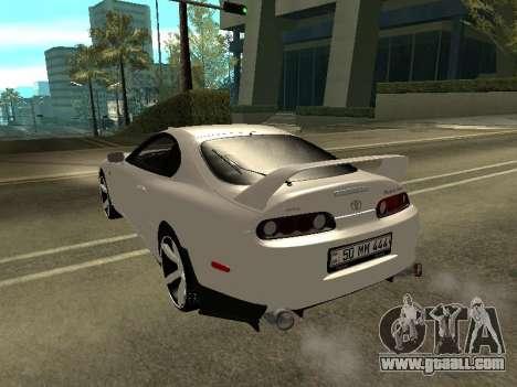 Toyota Supra Armenian for GTA San Andreas back left view