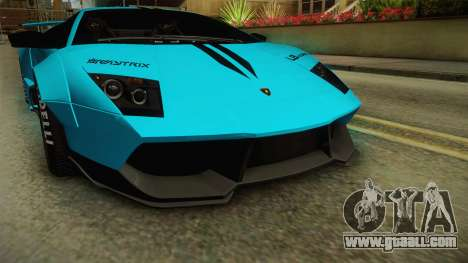 Lamborghini Murcielago LP670-4 SV Liberty Walk for GTA San Andreas side view