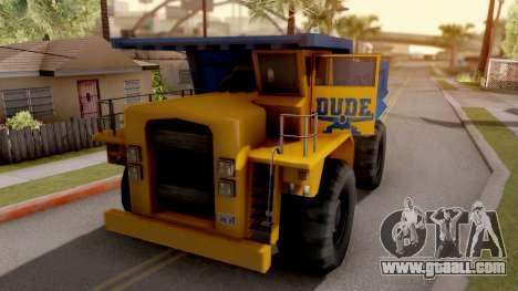 Paintable Dumper for GTA San Andreas