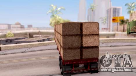 FlatBed Trailer From American Truck Simulator for GTA San Andreas left view